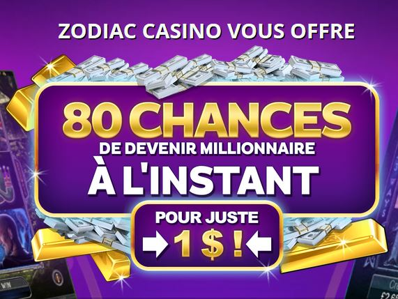 bonus d'inscription casino zodiac