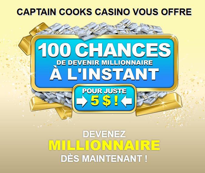 bonus du casino captain cooks
