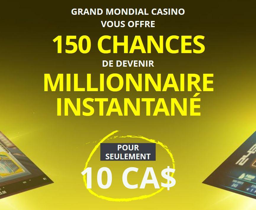 bonus du grand mondial casino