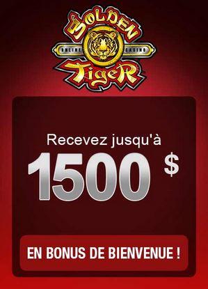 golden tiger casino offre de bienvenue