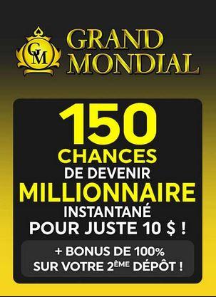 grand mondial casino offre de bienvenue bonus